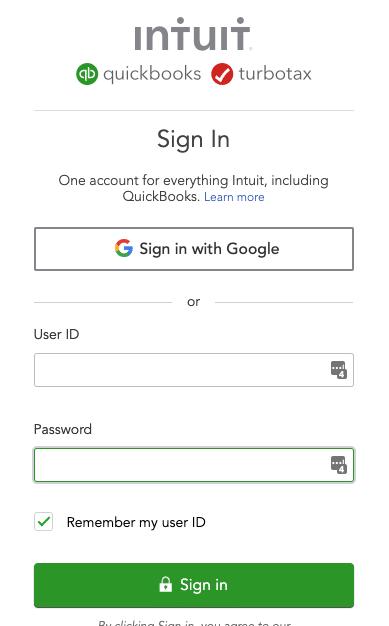 quickbooks login
