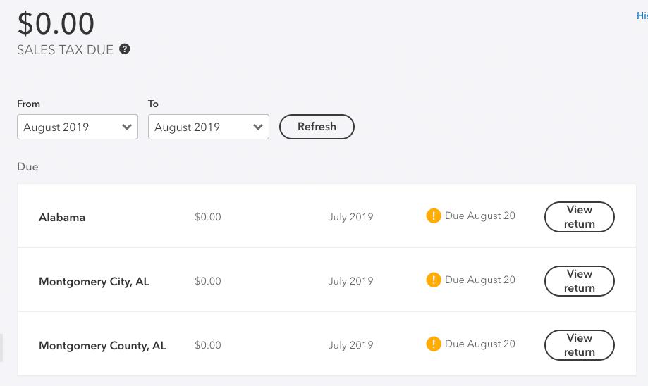 monthly returns